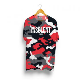 T-Shirt-INSOLENT-camo-rouge