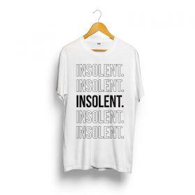 T-Shirt-INSOLENT-ligne-blanc