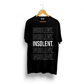 T-Shirt-INSOLENT-ligne-noir
