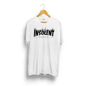T-Shirt-INSOLENT-trash-blanc